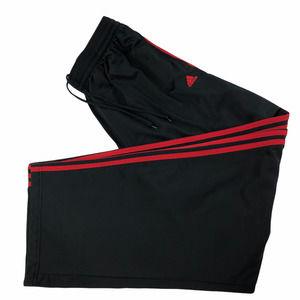 Adidas Men's Joggers Sweat Pants Black/Red Size XL